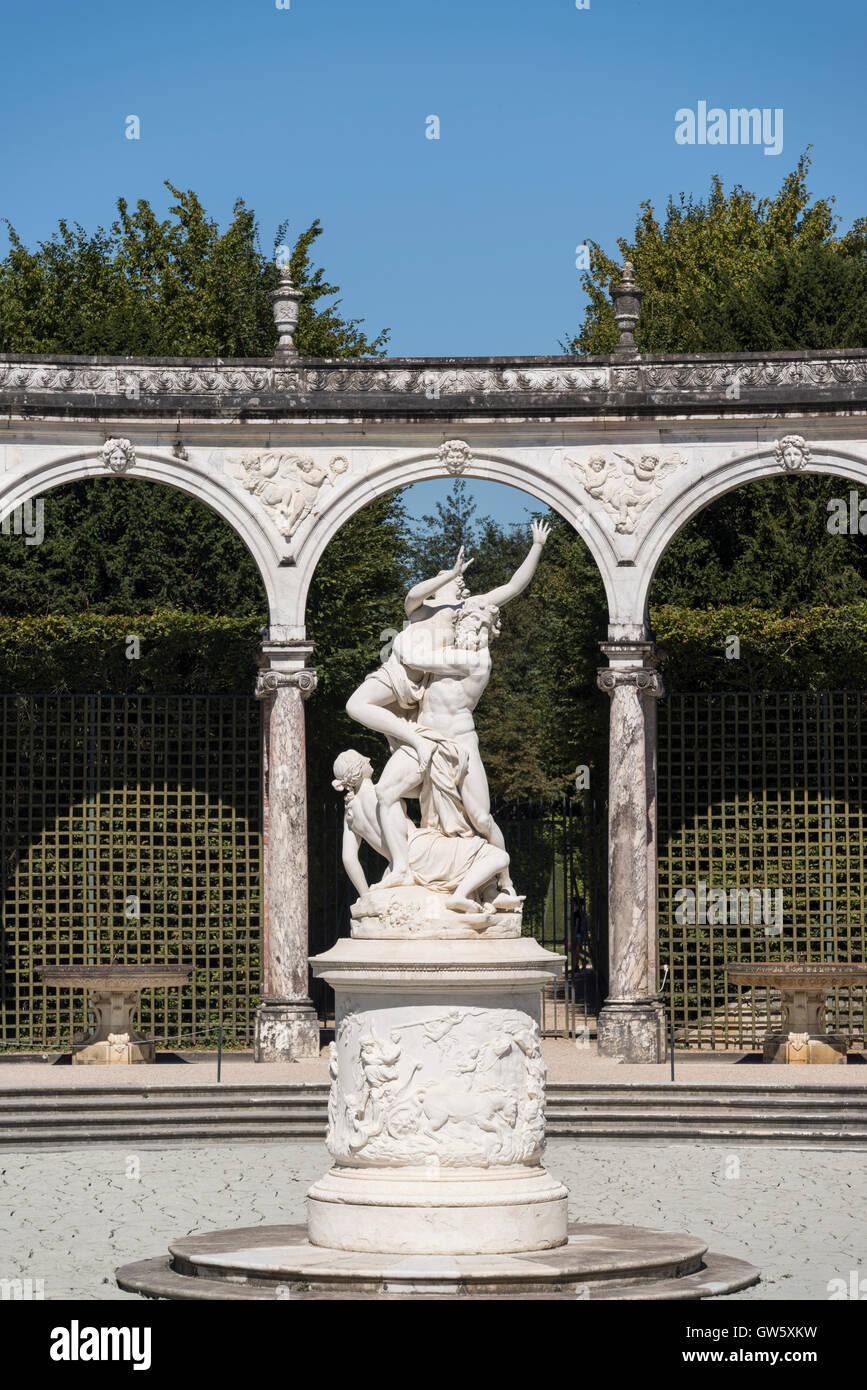 Abduction of Persephone by François Girardon, Bosquet de la Colonnade, , Palace of Versailles, Château - Stock Image