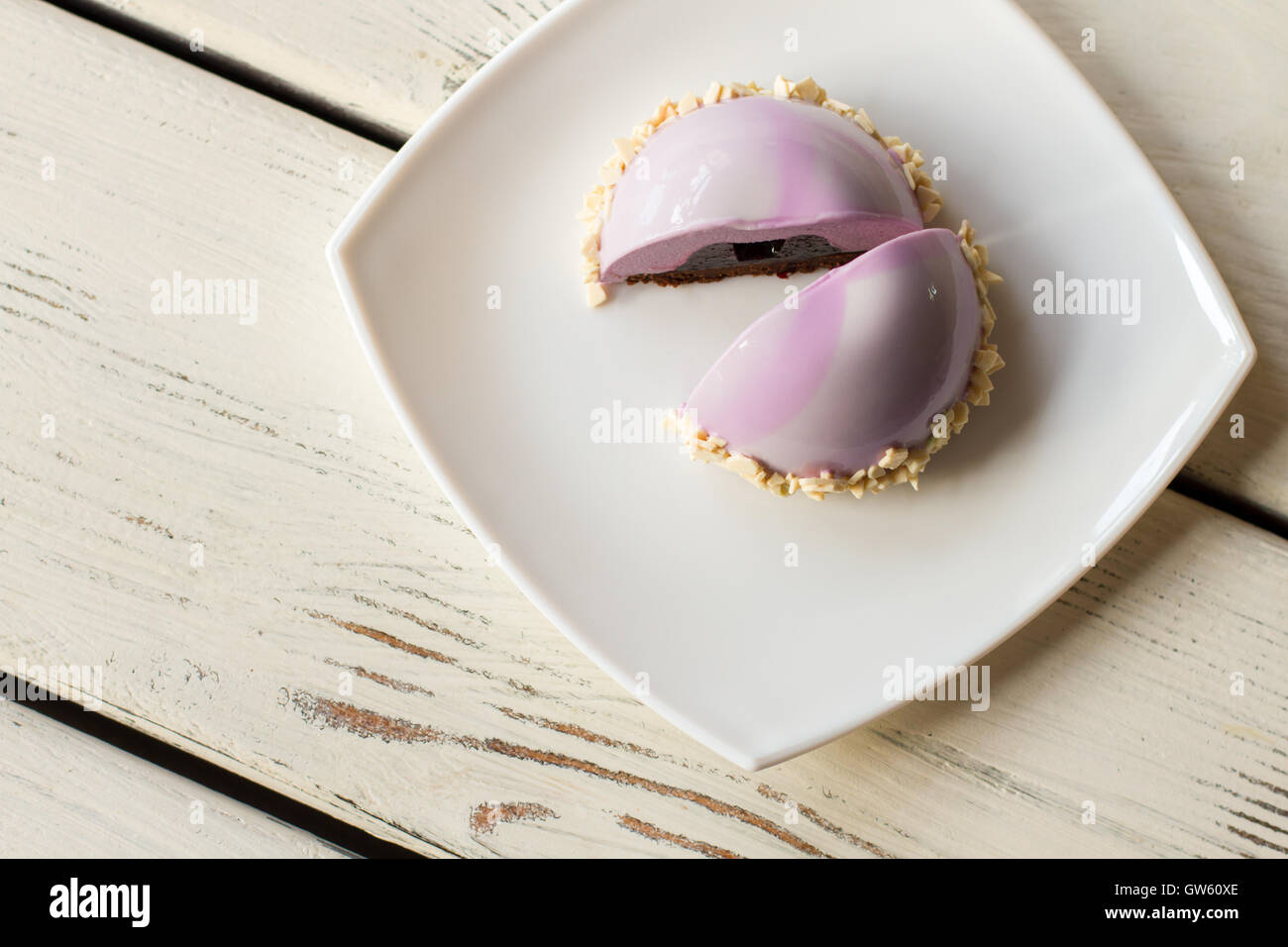Top view of small cake. - Stock Image