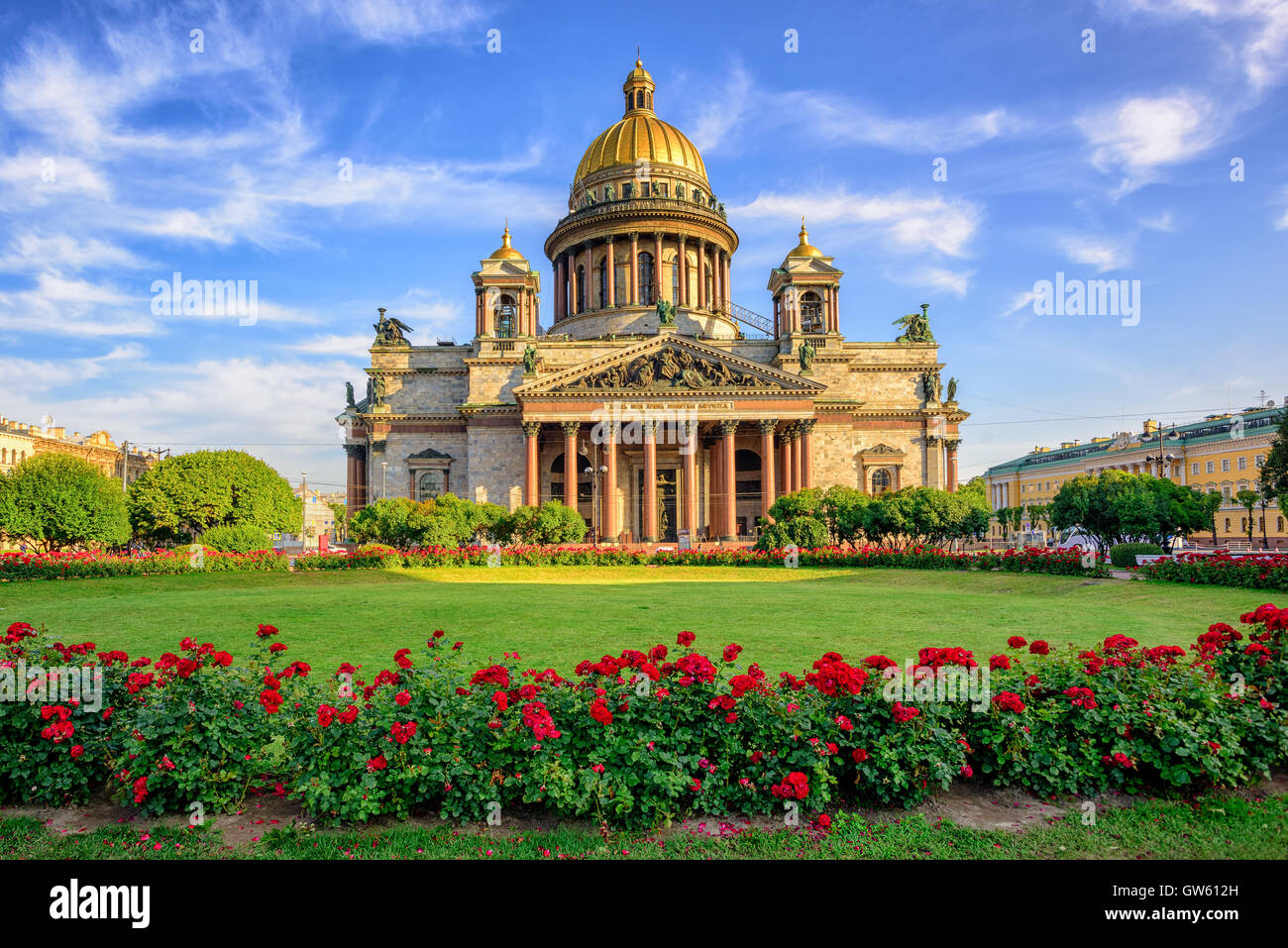 St Isaac cathedral in Saint Petersburg, Russia, is the biggest christian orthodox church in the world - Stock Image