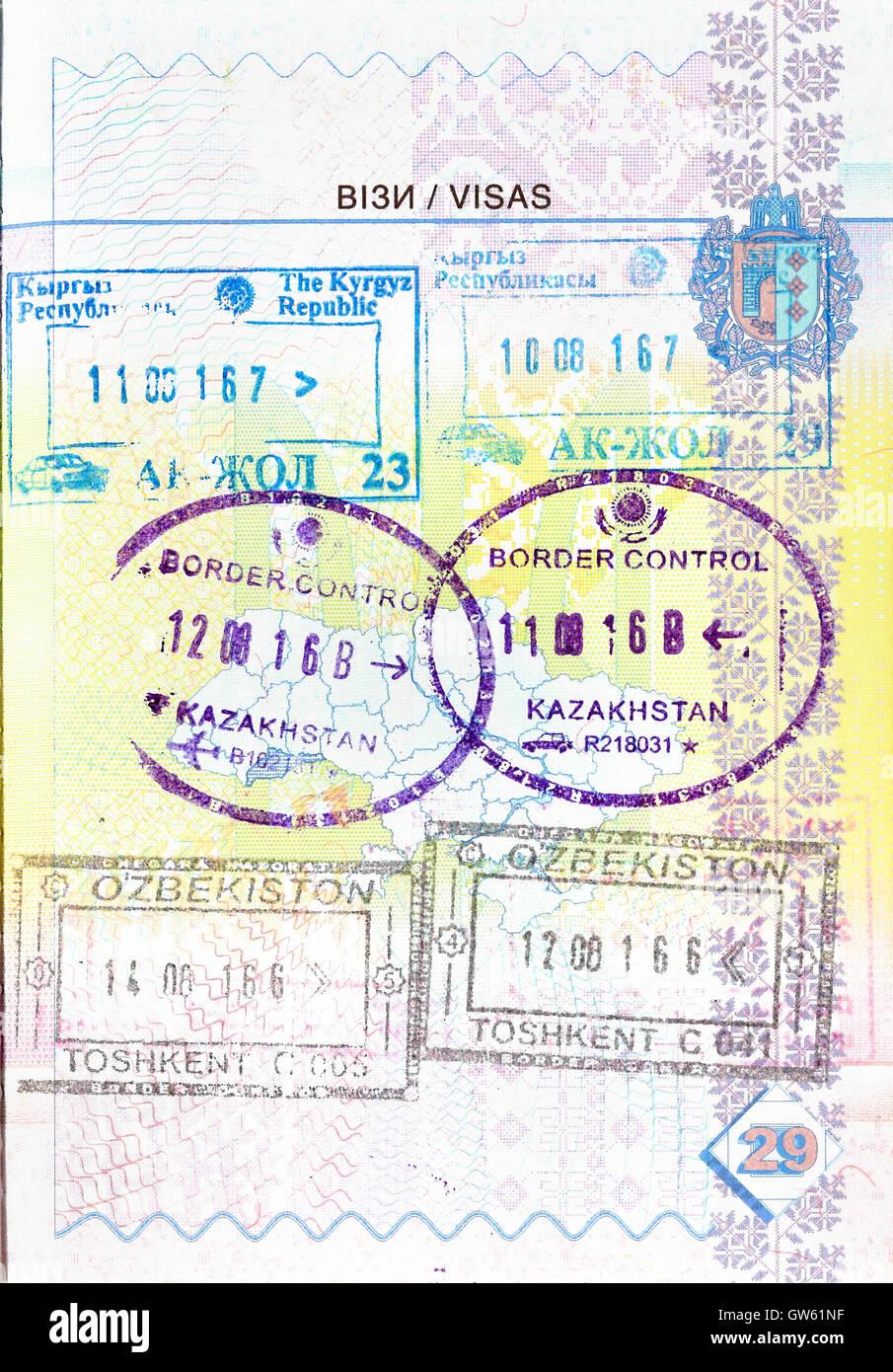 Passport Stamps Europe Stock Photos Amp Passport Stamps