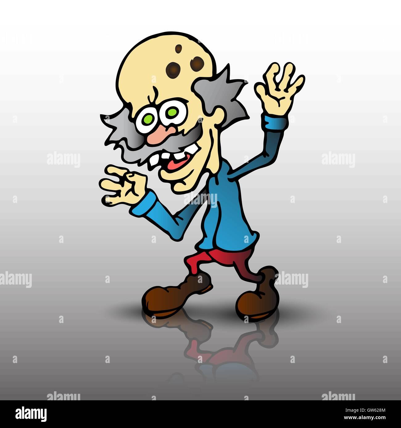 evil cartoon scientist - HD1000×1080