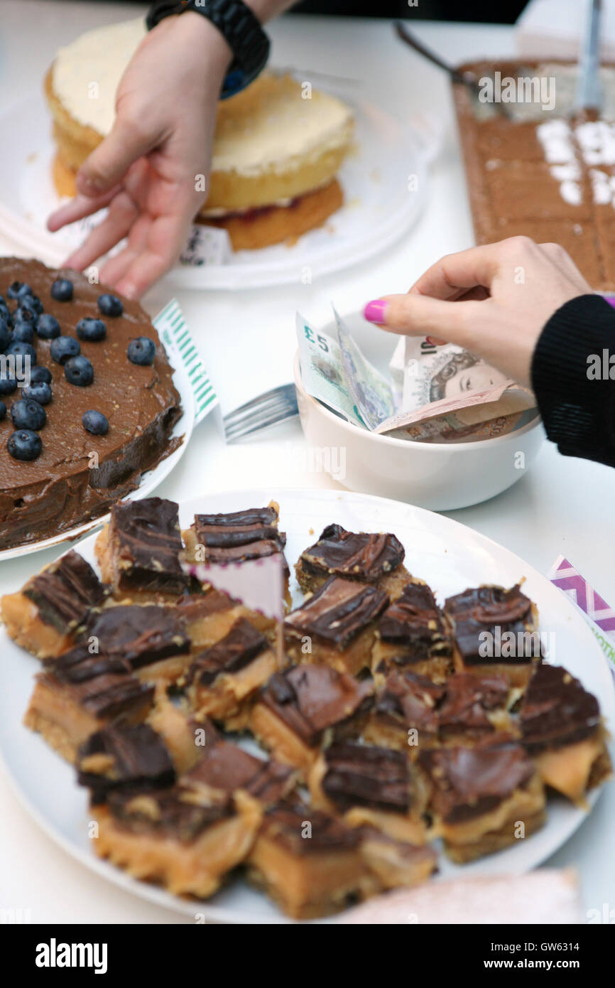 Charity cake sale - Stock Image