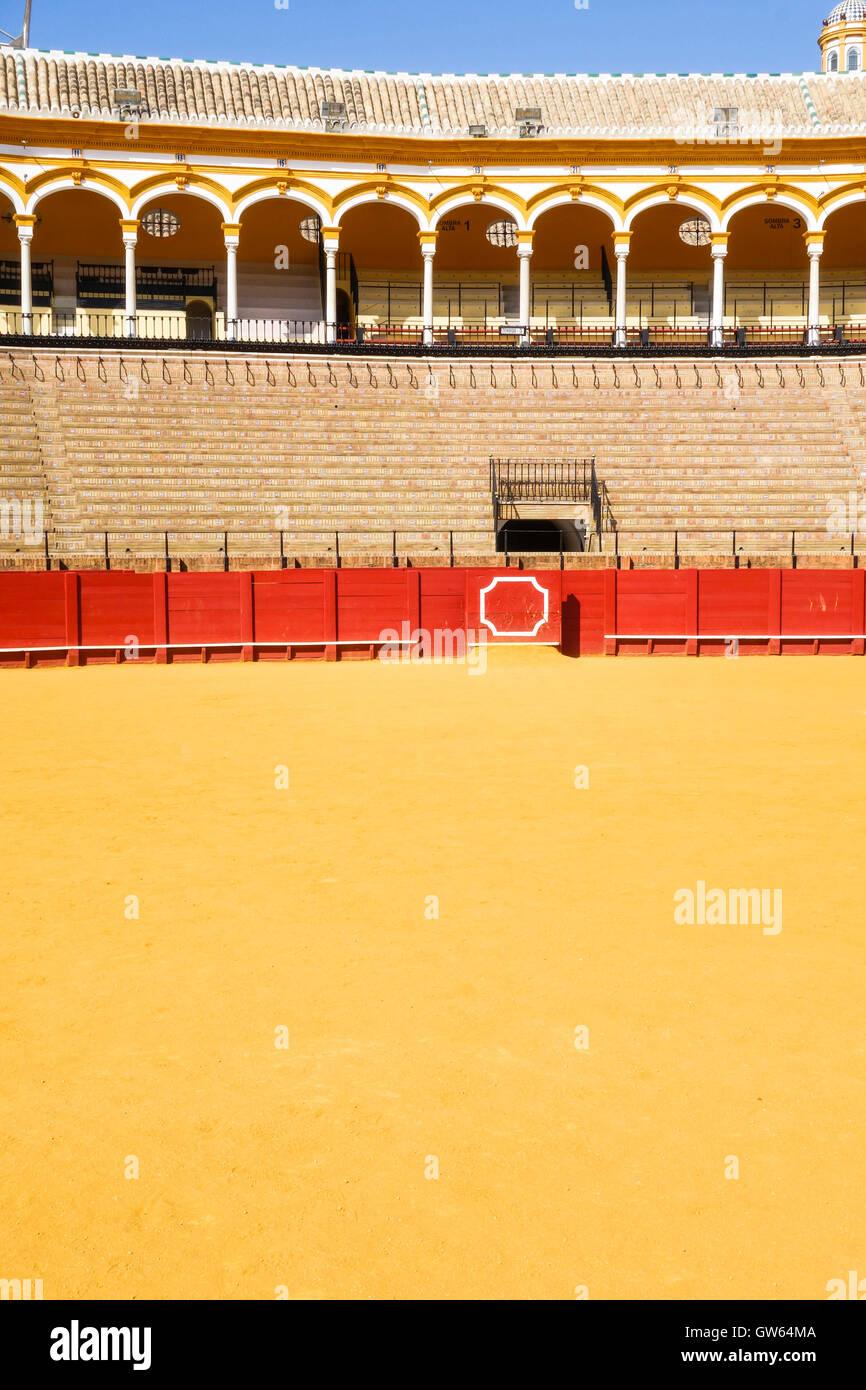 La Maestranza Bullring in Seville, Andalusia, Spain. - Stock Image