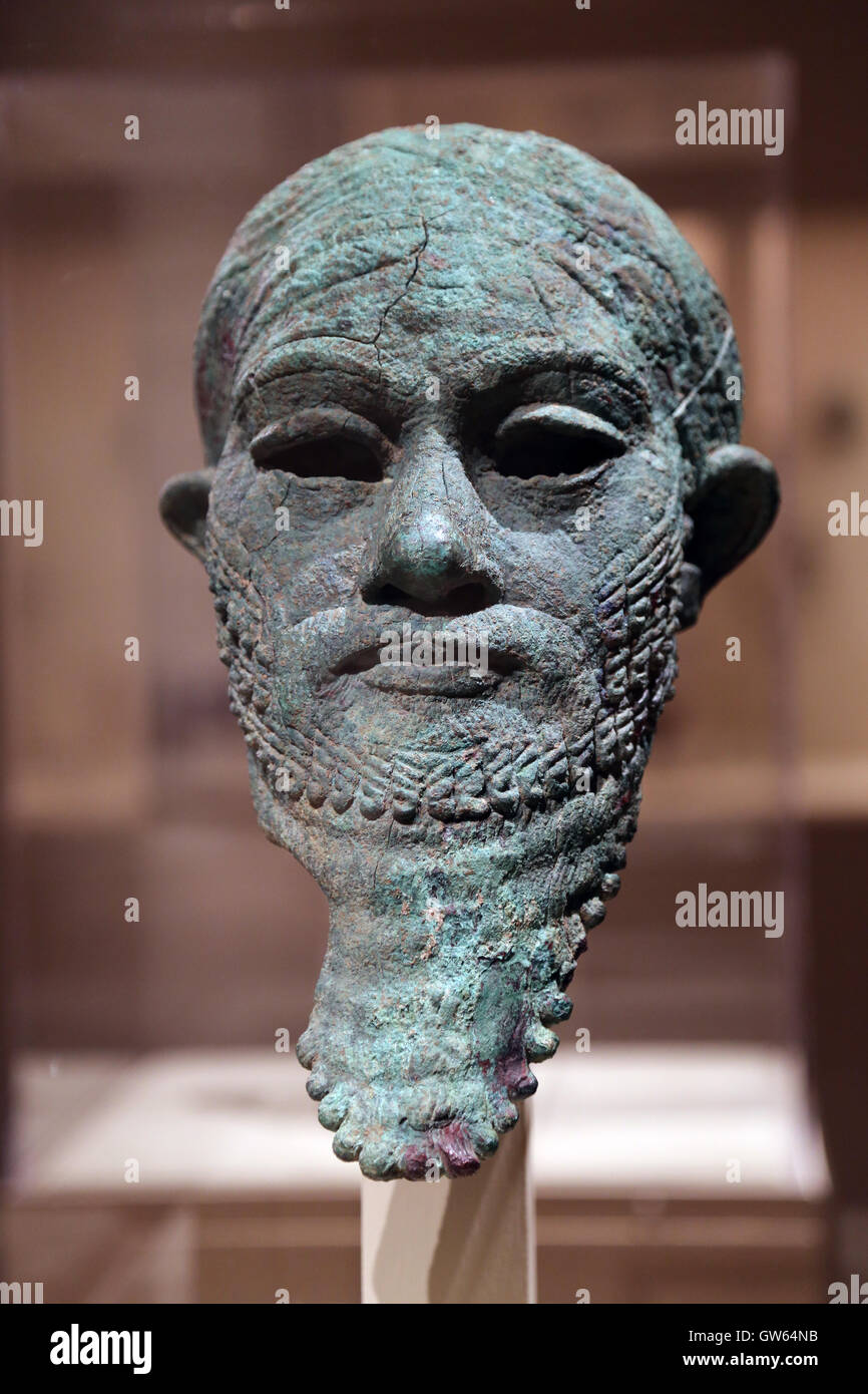 Head of a ruler. Arsenical copper. 2300-2000 BC. Period: Early Bronze Age. Mesopotamia. Metropolitan Museum of Art. - Stock Image