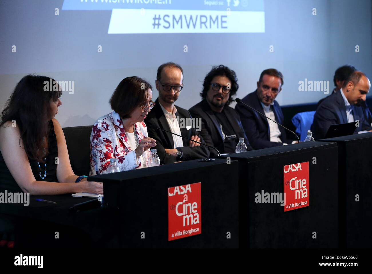 Roma, Italy. 12th Sep, 2016. Press conference of Social Media Week Rome, which is among the 10 most innovative and - Stock Image