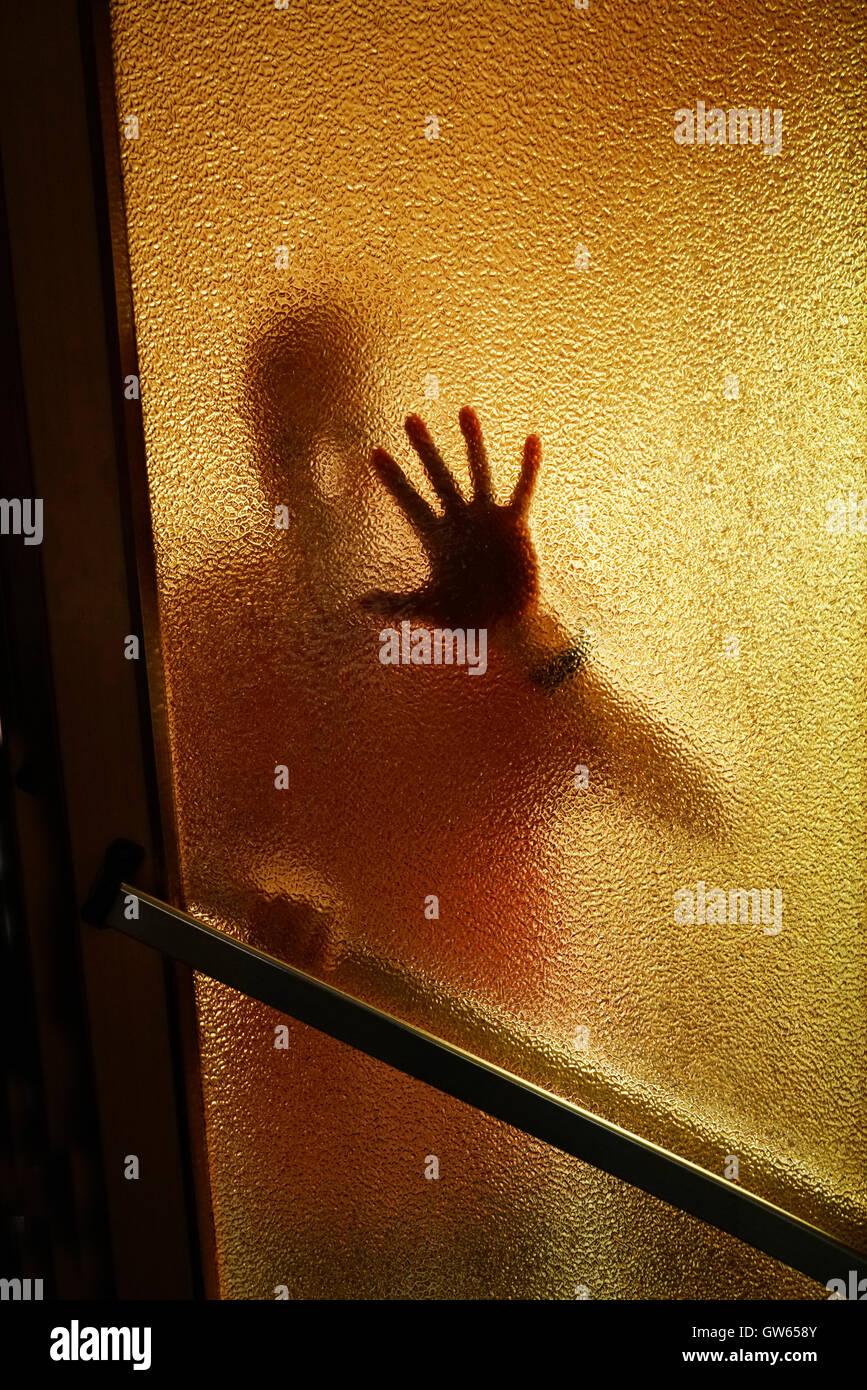 man on the door - Stock Image