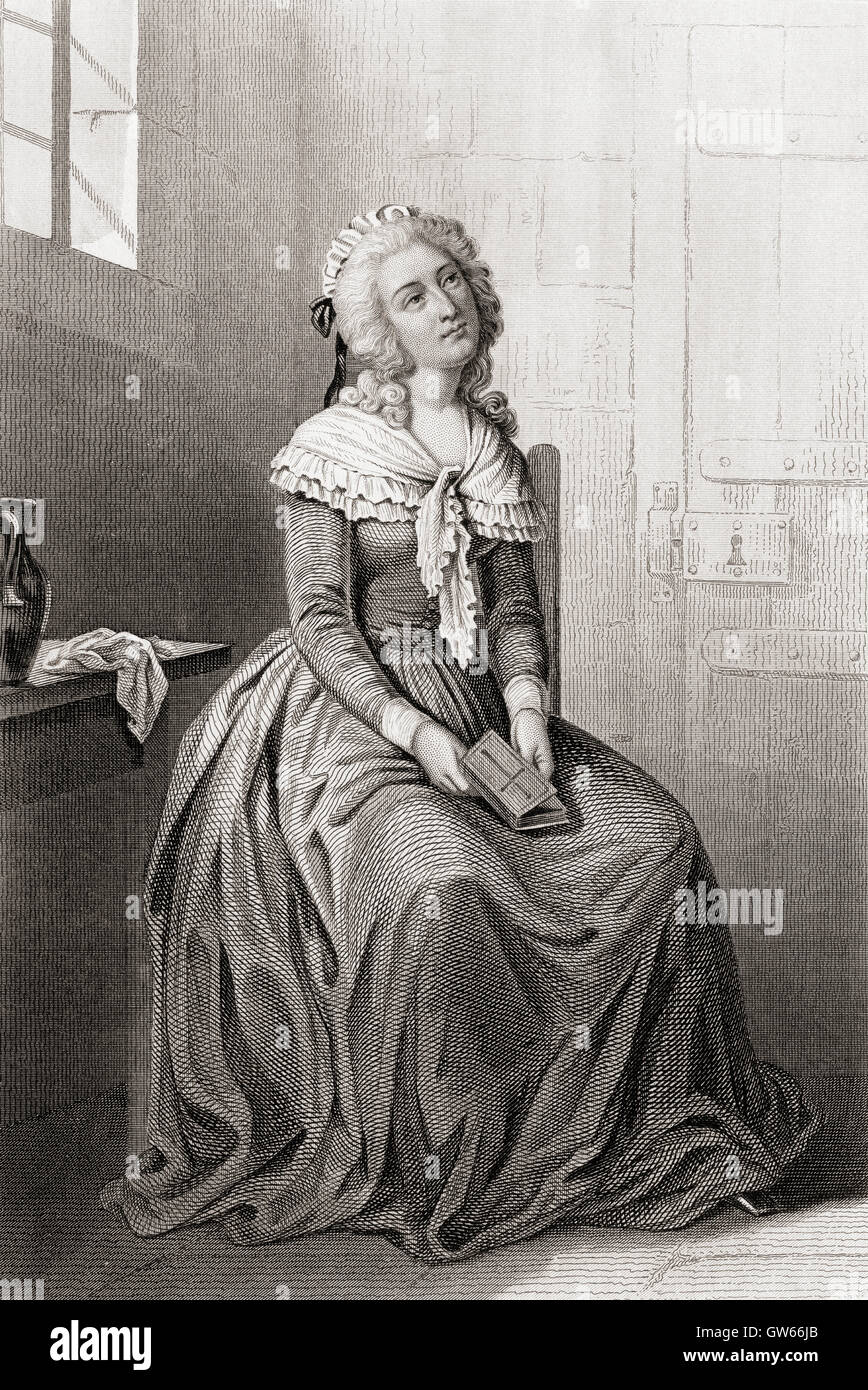 Élisabeth of France, 1764 –  1794, aka Madame Élisabeth.  French princess and the youngest sibling of King Louis Stock Photo