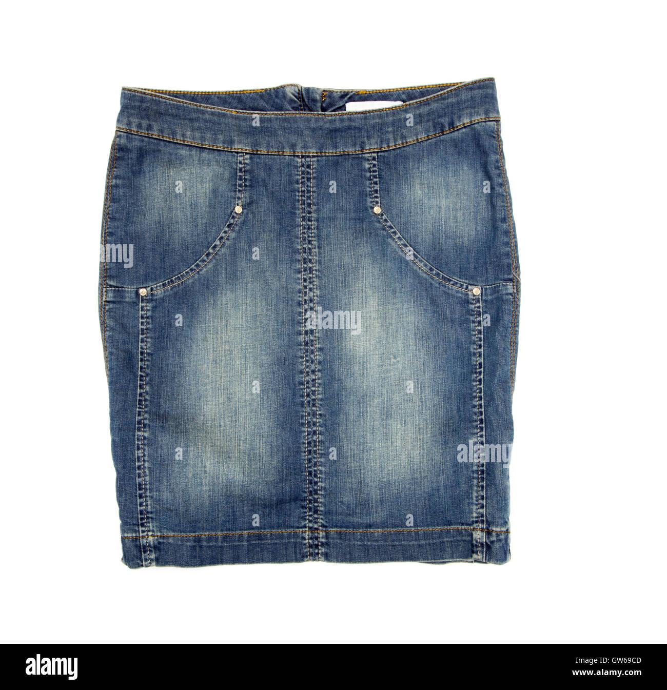 Jean skirt - Stock Image