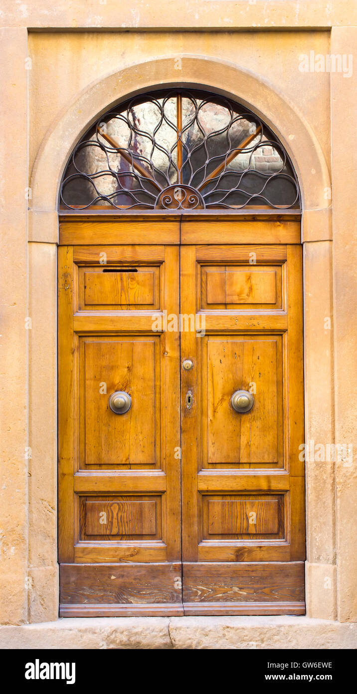 lovely tuscan doors San Gimignano Italy - Stock Image : tuscan doors - pezcame.com