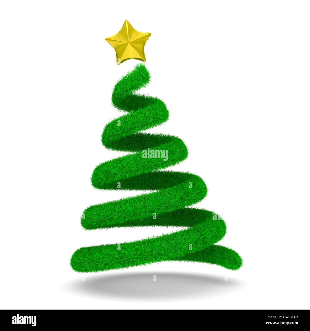 Gold Spiral Christmas Tree On Stock Photos & Gold Spiral Christmas ...