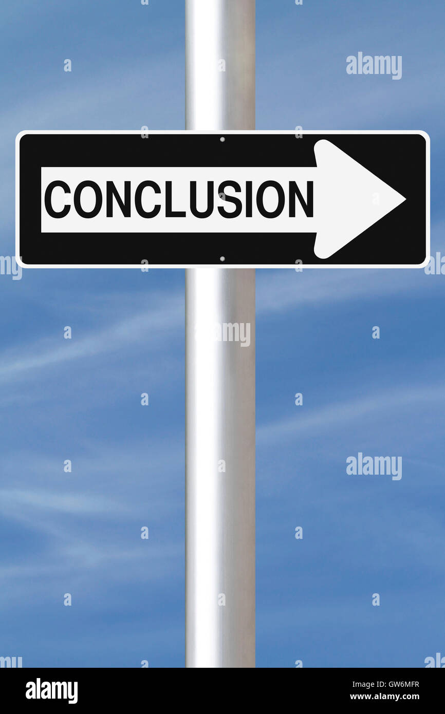 Conclusion This Way - Stock Image