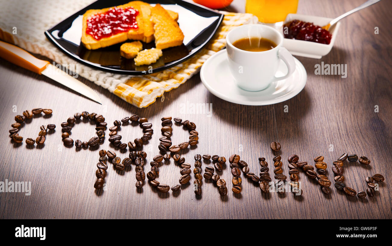 Good Morning Breakfast Stock Photo Alamy