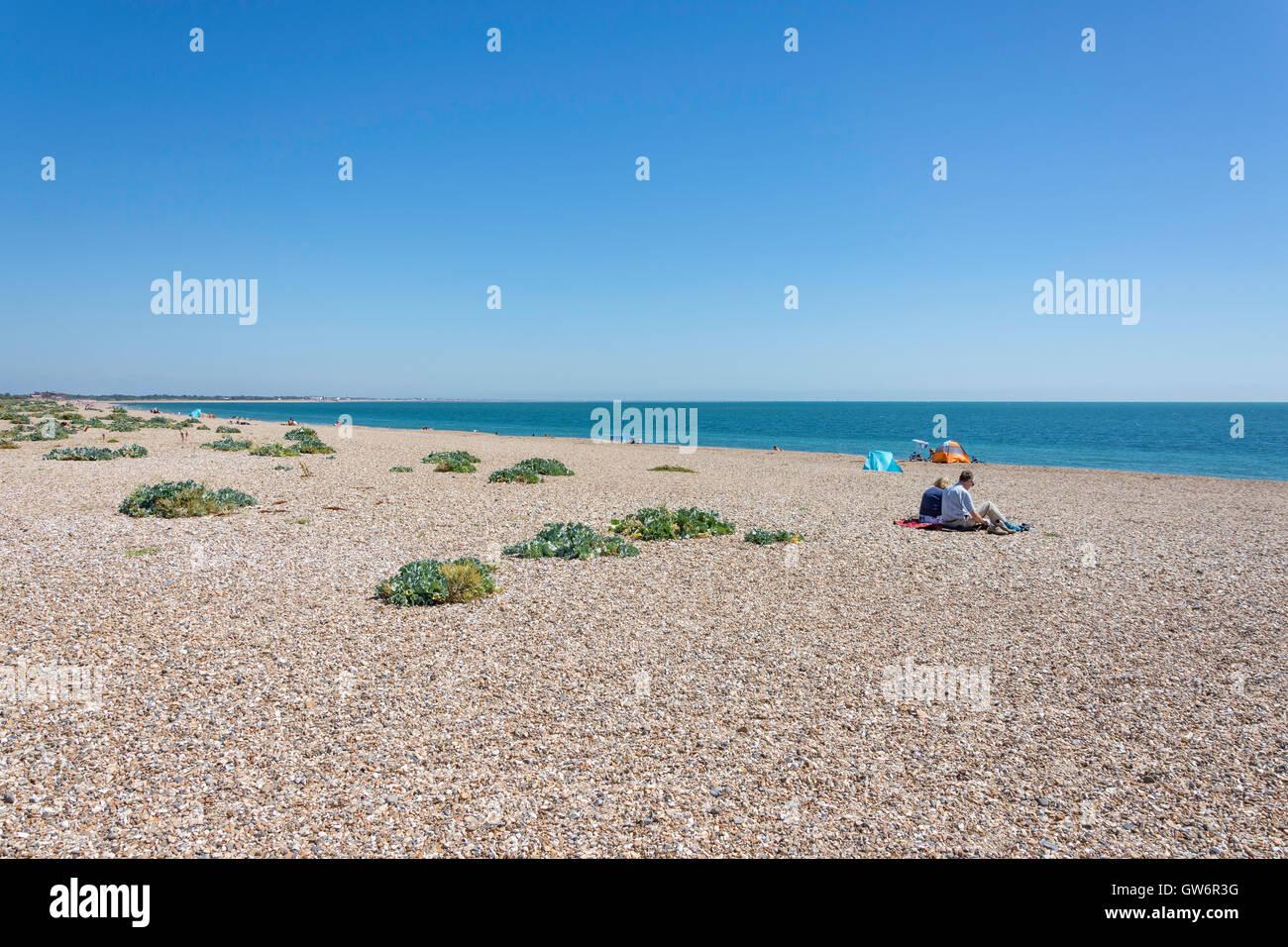 Eastney Beach, Southsea, Portsmouth, Hampshire, England, United Kingdom - Stock Image
