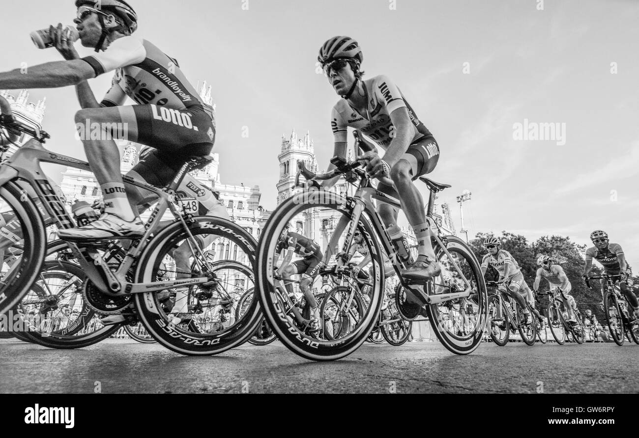 George Bennet (Lotto NL - Jumbo) rides at 21st stage of cycling race 'La Vuelta a España' (Tour of Spain). - Stock Image