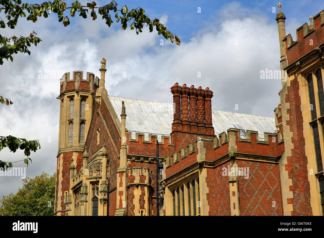 Lincoln's Inn : view of Great Hall from Lincoln's Inn fields, London, Great Britain - Stock Image