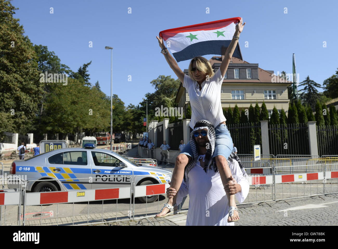 Prague, Czech Republic. 11th Sep, 2016. The police dispersed a demonstration held by Martin Konvicka's Initiative - Stock Image