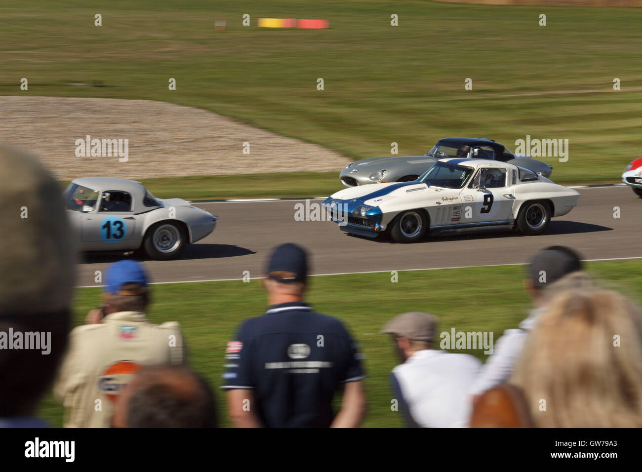 Chichester, UK, UK. 11th Sep, 2016. The RAC TT Celebration race for 1960's sports cars during the Goodwood Revival - Stock Image