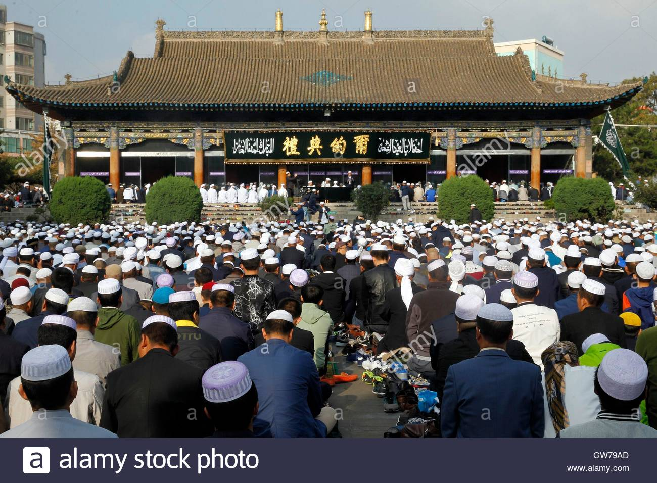 Xining, China. 12th Sep, 2016. More than 150000 muslims attend the religious activities for their traditional Corban - Stock Image