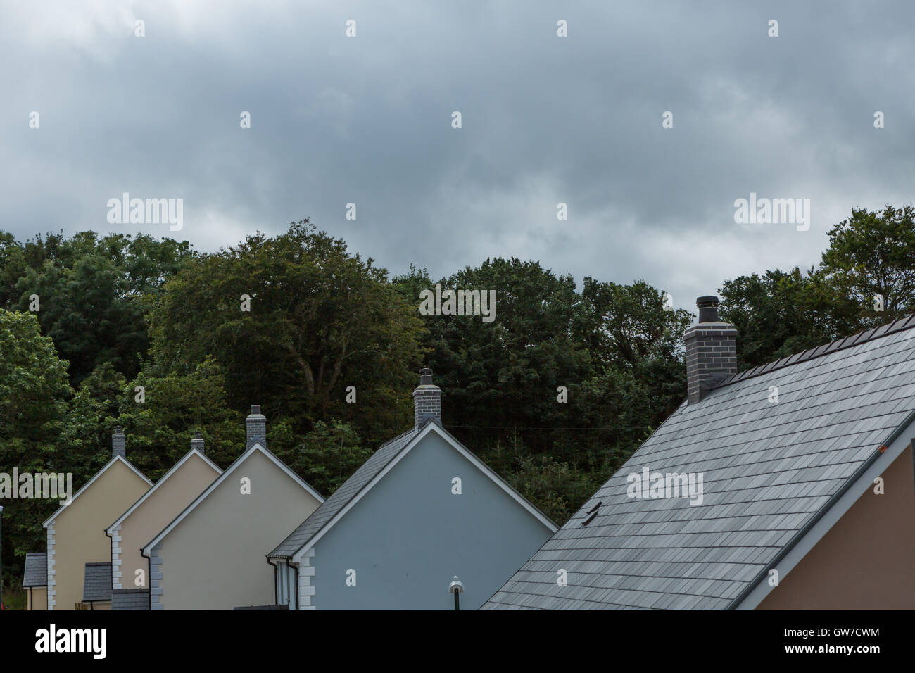 5 rooftops in a row.  © Ian Jones/Alamy Live News - Stock Image