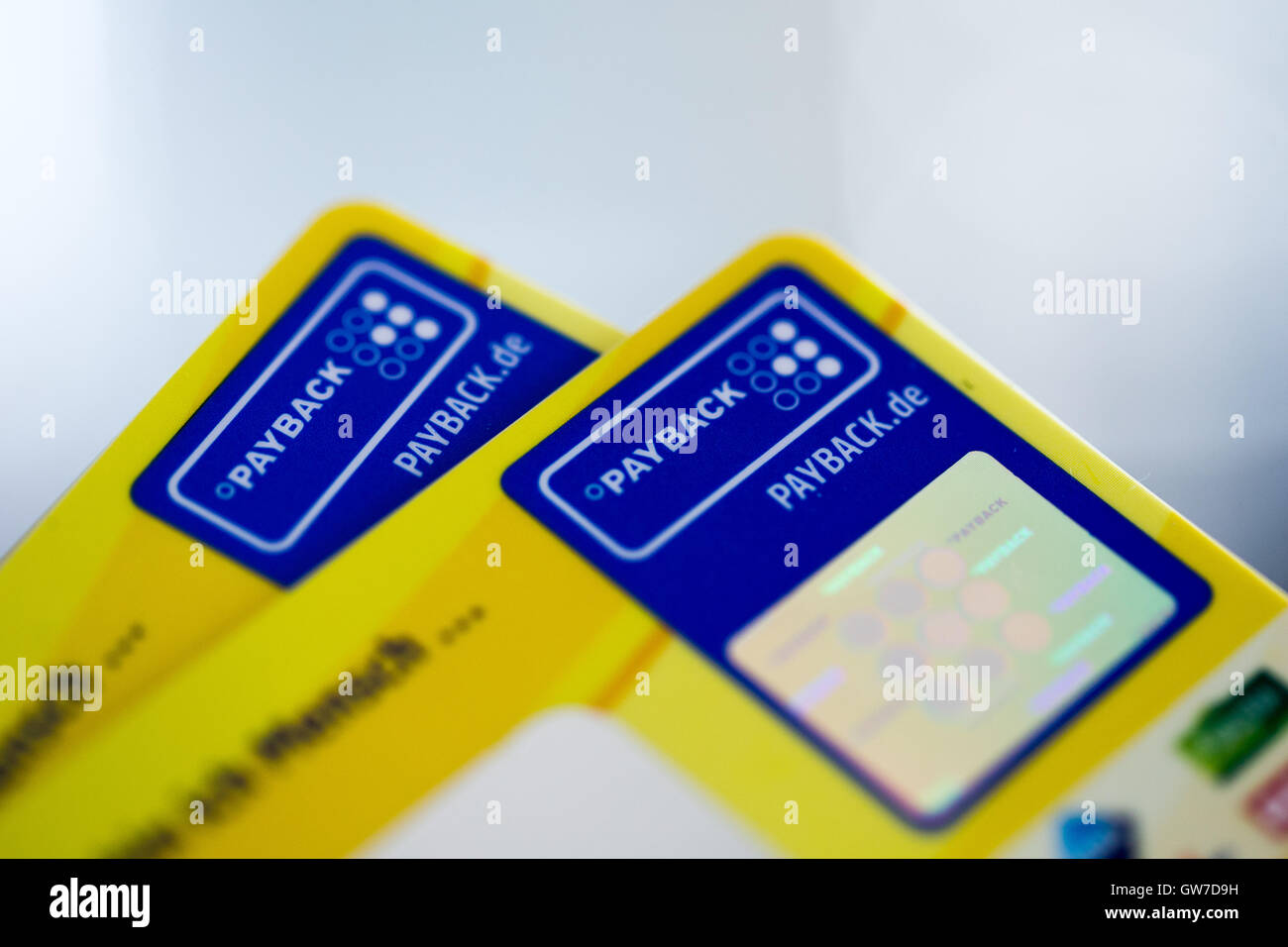 illustration 2 payback cards pictured on a table in duesseldorf germany 12 september 2016 photo rolf vennenbernddpaalamy live news
