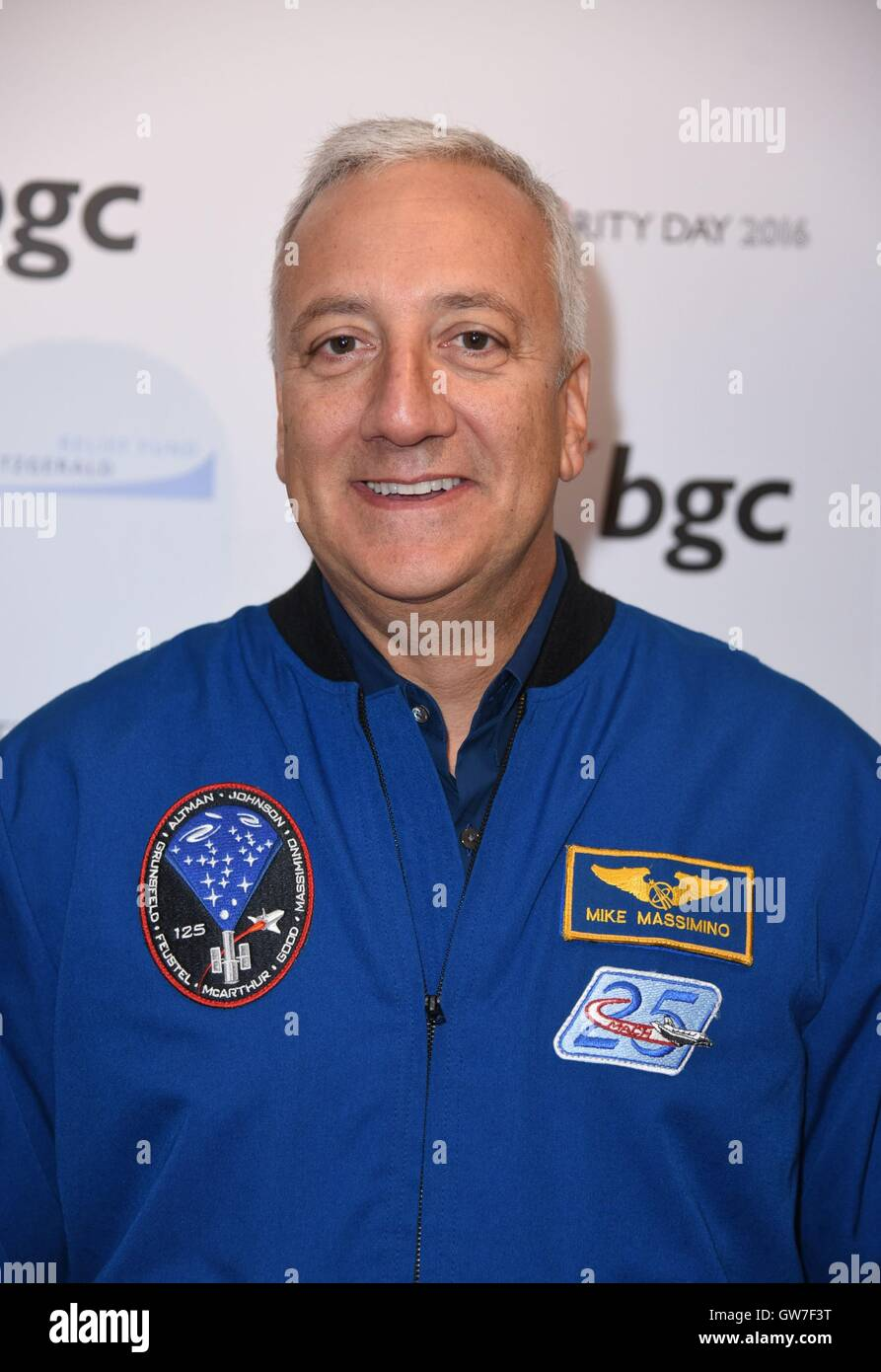 New York, NY, USA. 12th Sep, 2016. Michael Massimino in attendance for BGC Partners Charity Day to Commemorate 9/11, - Stock Image
