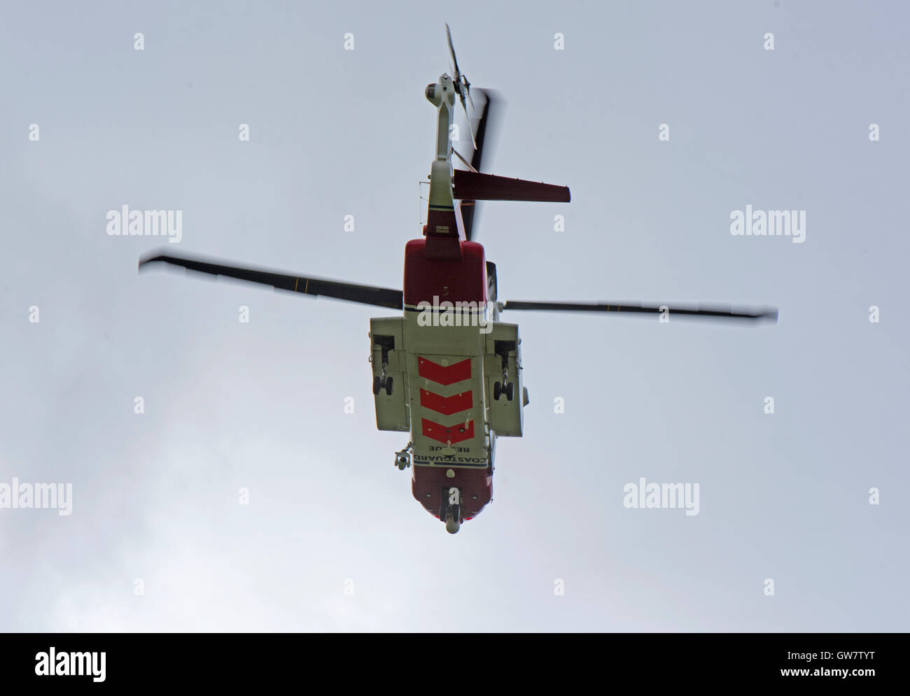 Sikorsky S-92A Coastguard SAR Helicopter (G-MCGI) based at Inverness. SCO 11,248. - Stock Image