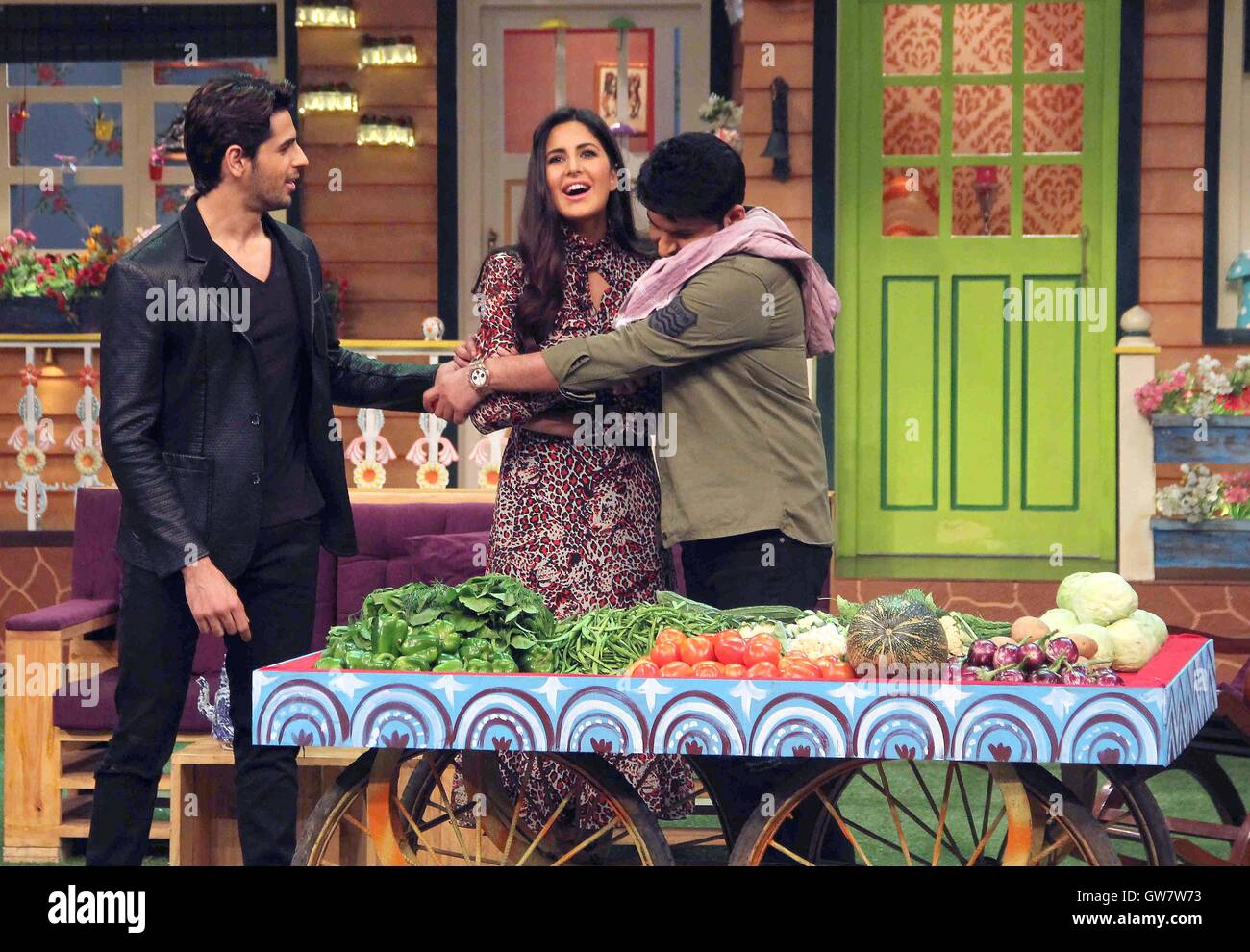 Bollywood actors Katrina Kaif Sidharth Malhotra comedian