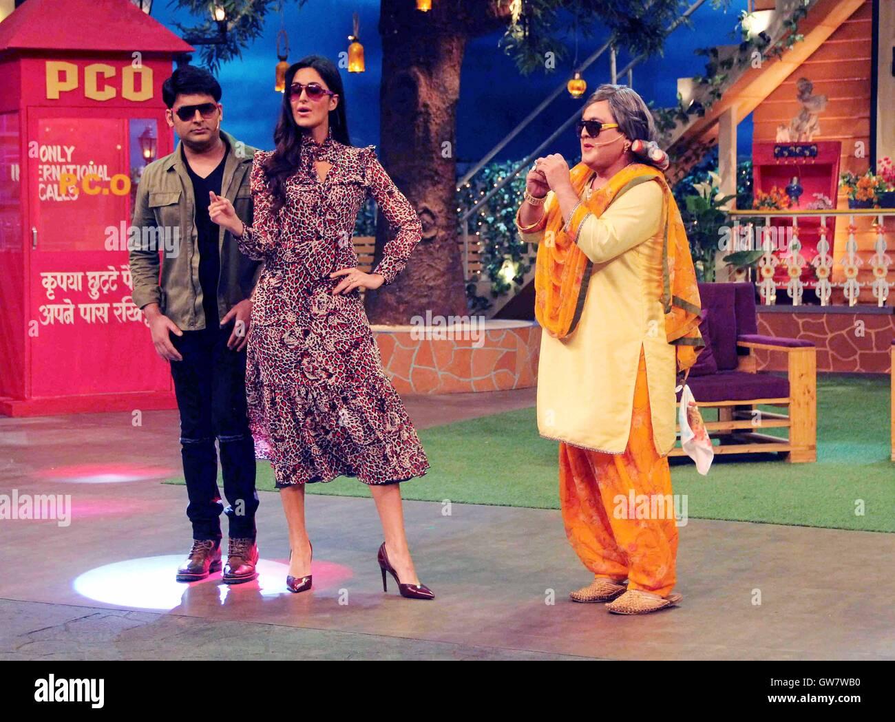 Bollywood actor Katrina Kaif comedians Kapil Sharma Ali Asgar Stock