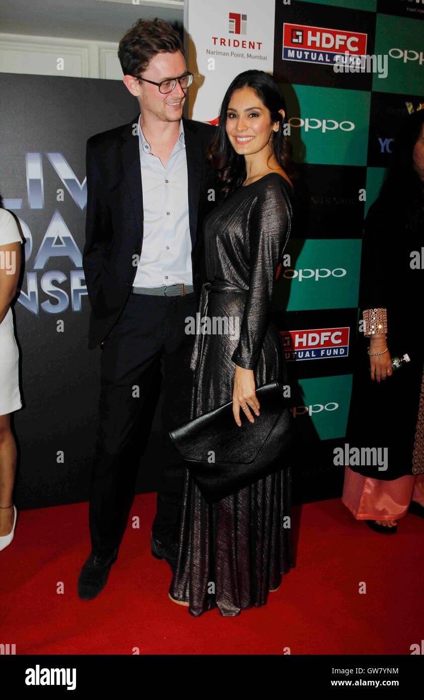 Bollywood actor Bruna Abdullah launch of Indian cricket player Yuvraj Singhs clothing brand YWC designed Shantanu - Stock Image