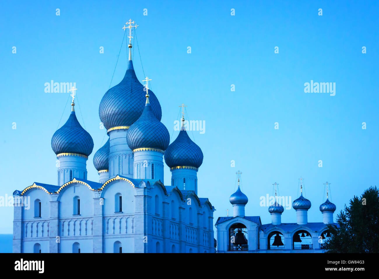 Rostov kremlin, Golden Ring, Russia - Stock Image