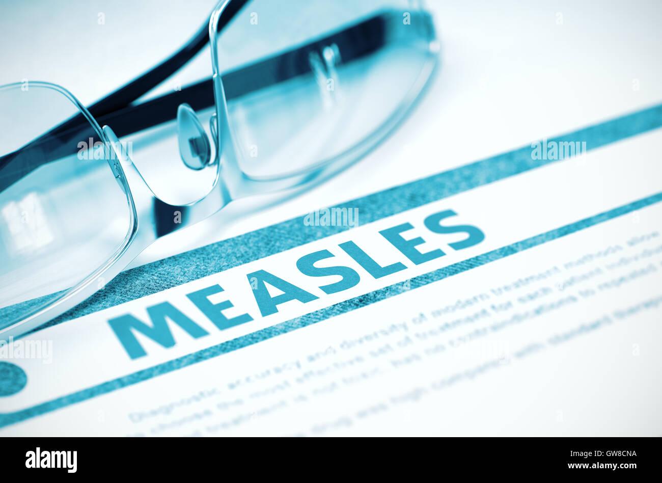Diagnosis - Measles. Medical Concept. 3D Illustration. - Stock Image