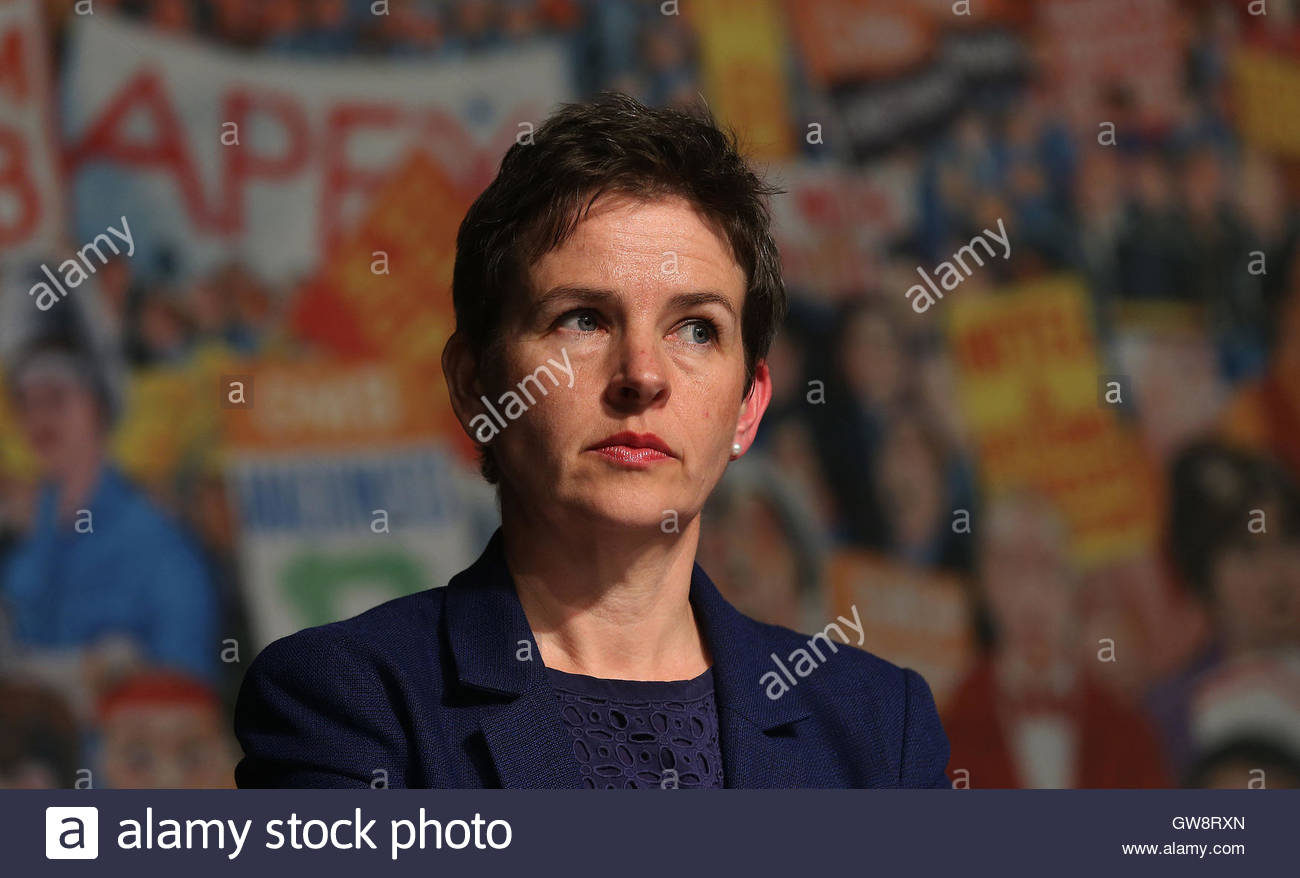 File photo dated 9/6/2015 of Mary Creagh as police have launched an investigation after a brick was thrown through - Stock Image