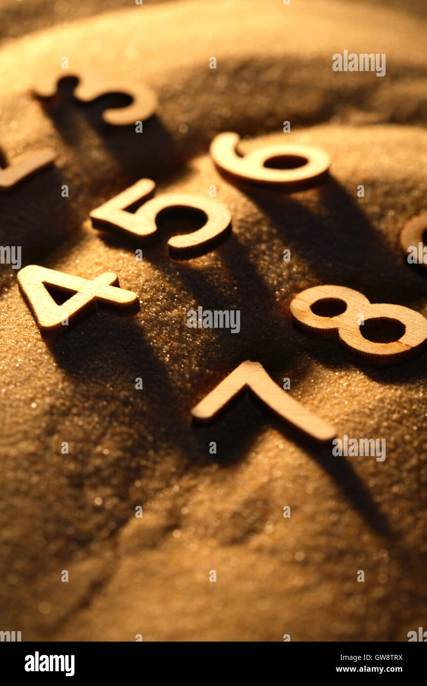 Numbers On Sand - Stock Image