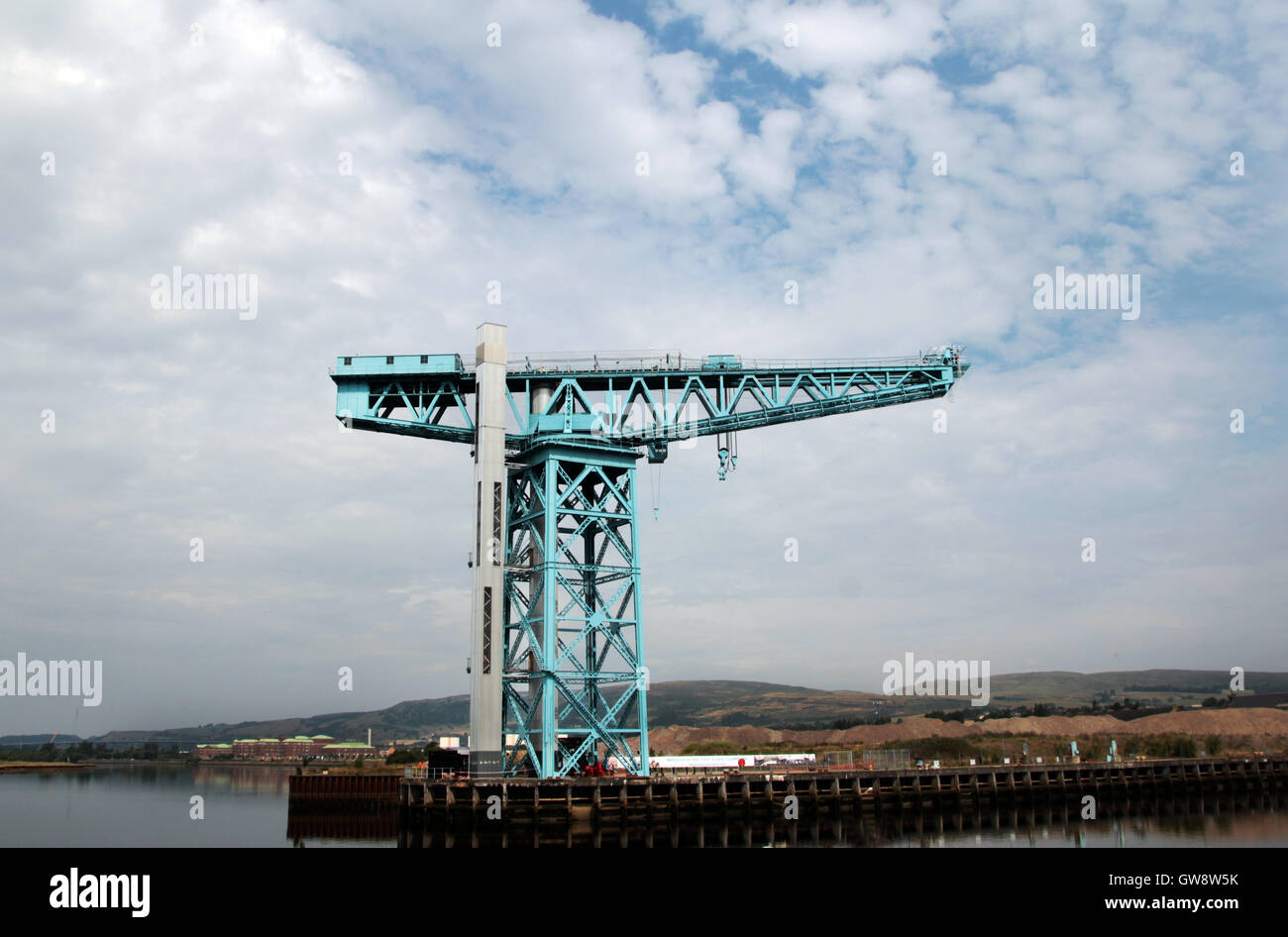 The Titan crane of the banks of the River Clyde at Clydebank, Scotland. - Stock Image