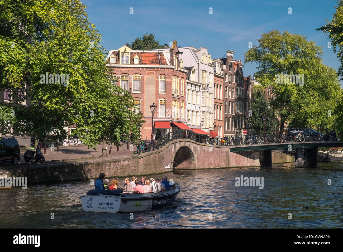 Prinsengracht canal, Amsterdam, Netherlands. - Stock Image