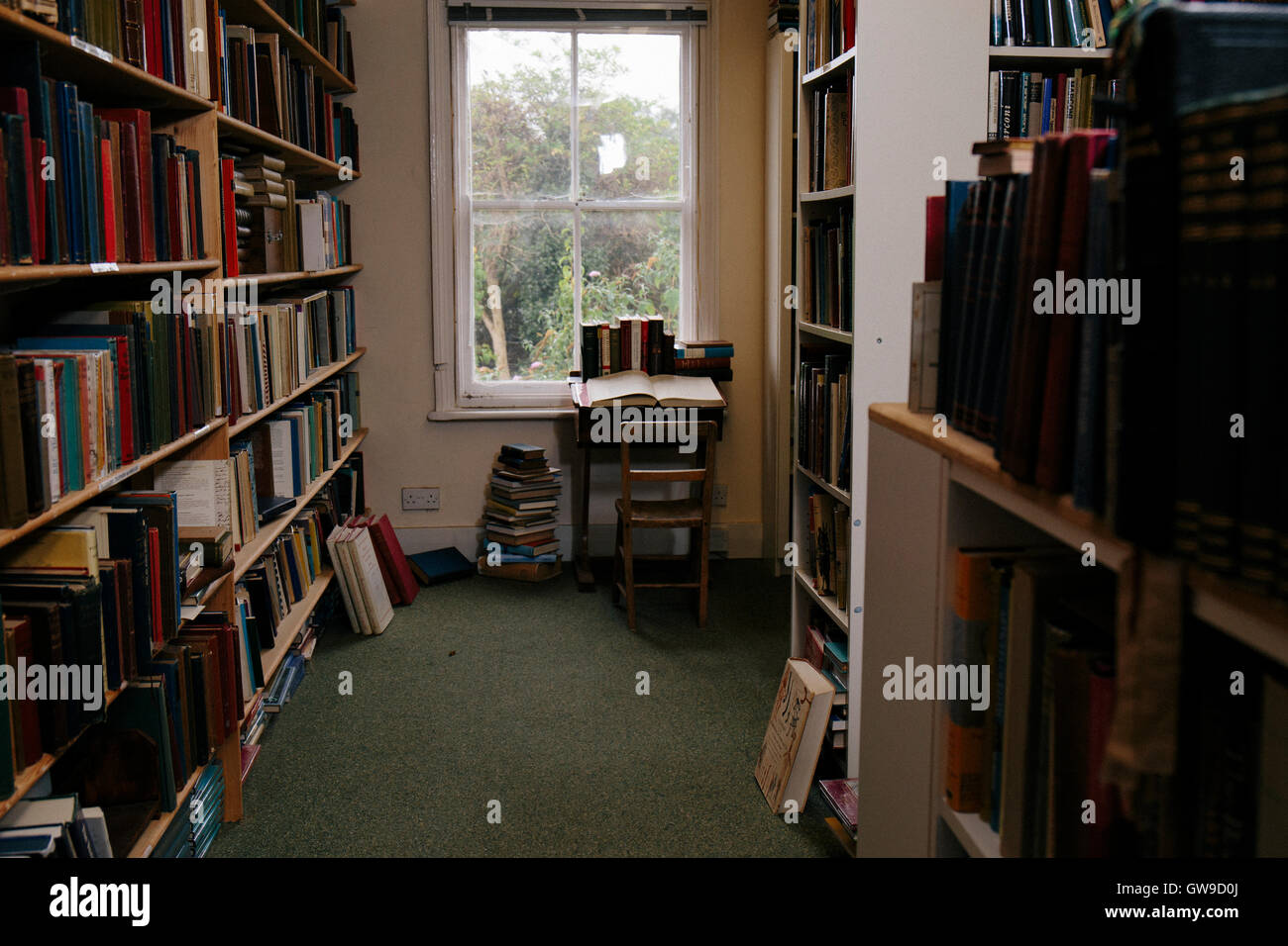 Inside a secondhand bookshop - Stock Image