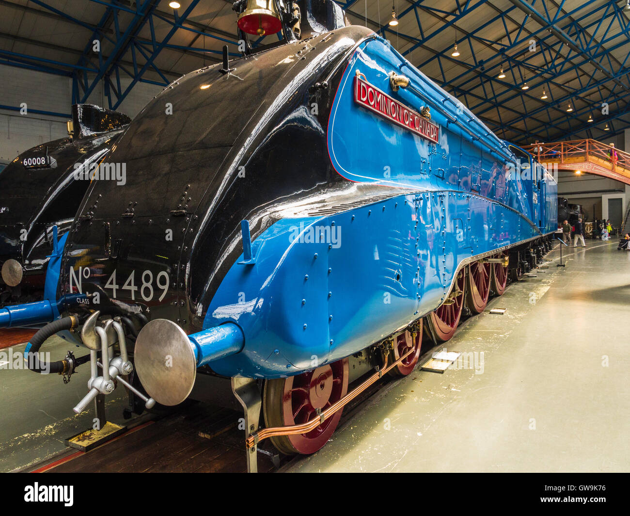 4489 'Dominion of Canada' class A4 4-6-2 steam locomotive formerly operated by LNER. Seen at National Railway - Stock Image