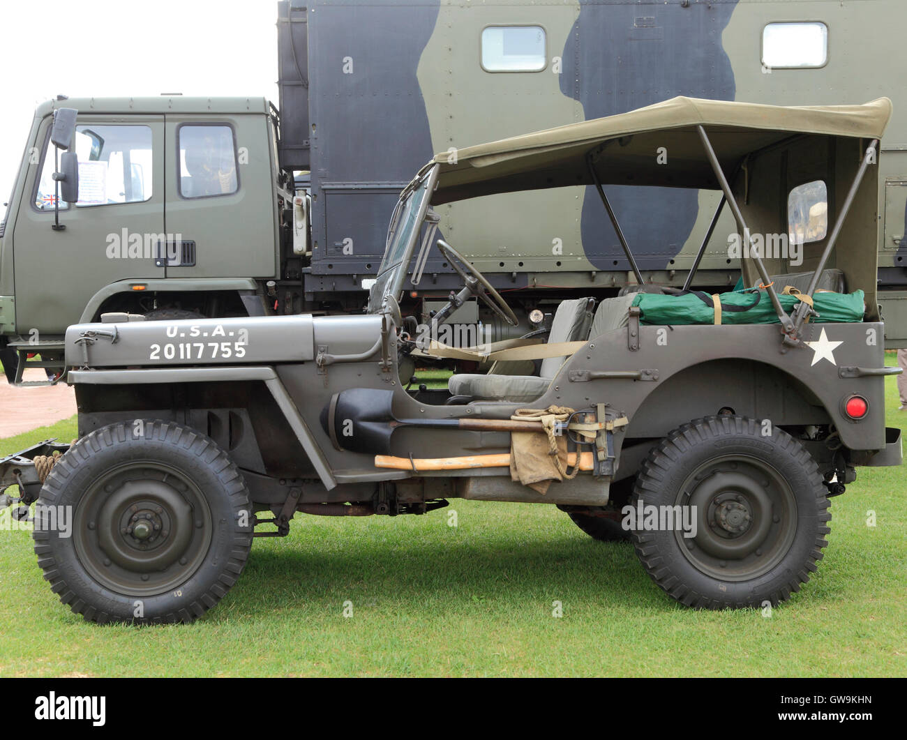 US Army Jeep, Ford GPW, general purpose vehicle, World War 2, built 1942, WW2, second world war, vehicles jeeps - Stock Image
