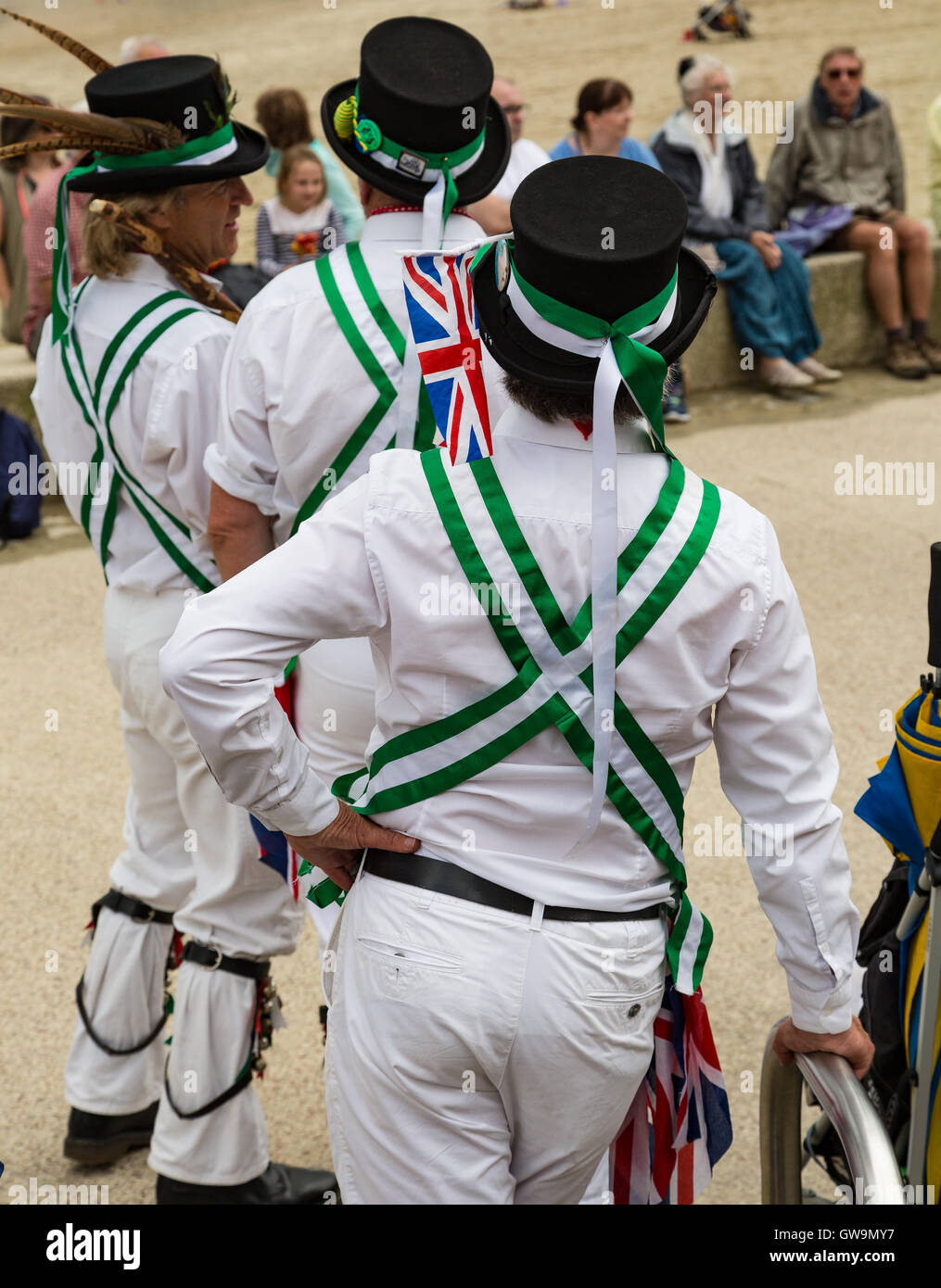 Morris Dancers at Lym Regis - Stock Image