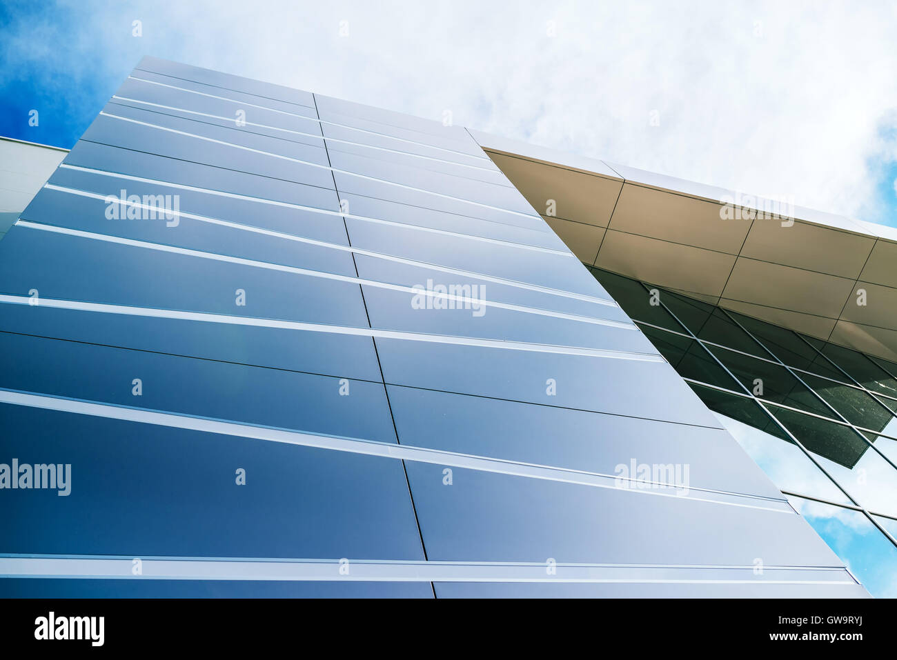 Modern architecture detail, facade of new business office building - Stock Image