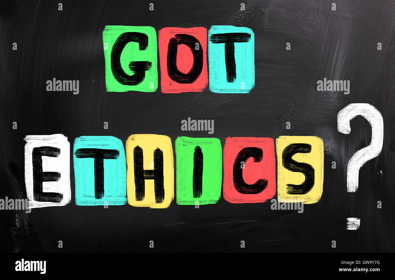 Code Of Ethics - Stock Image