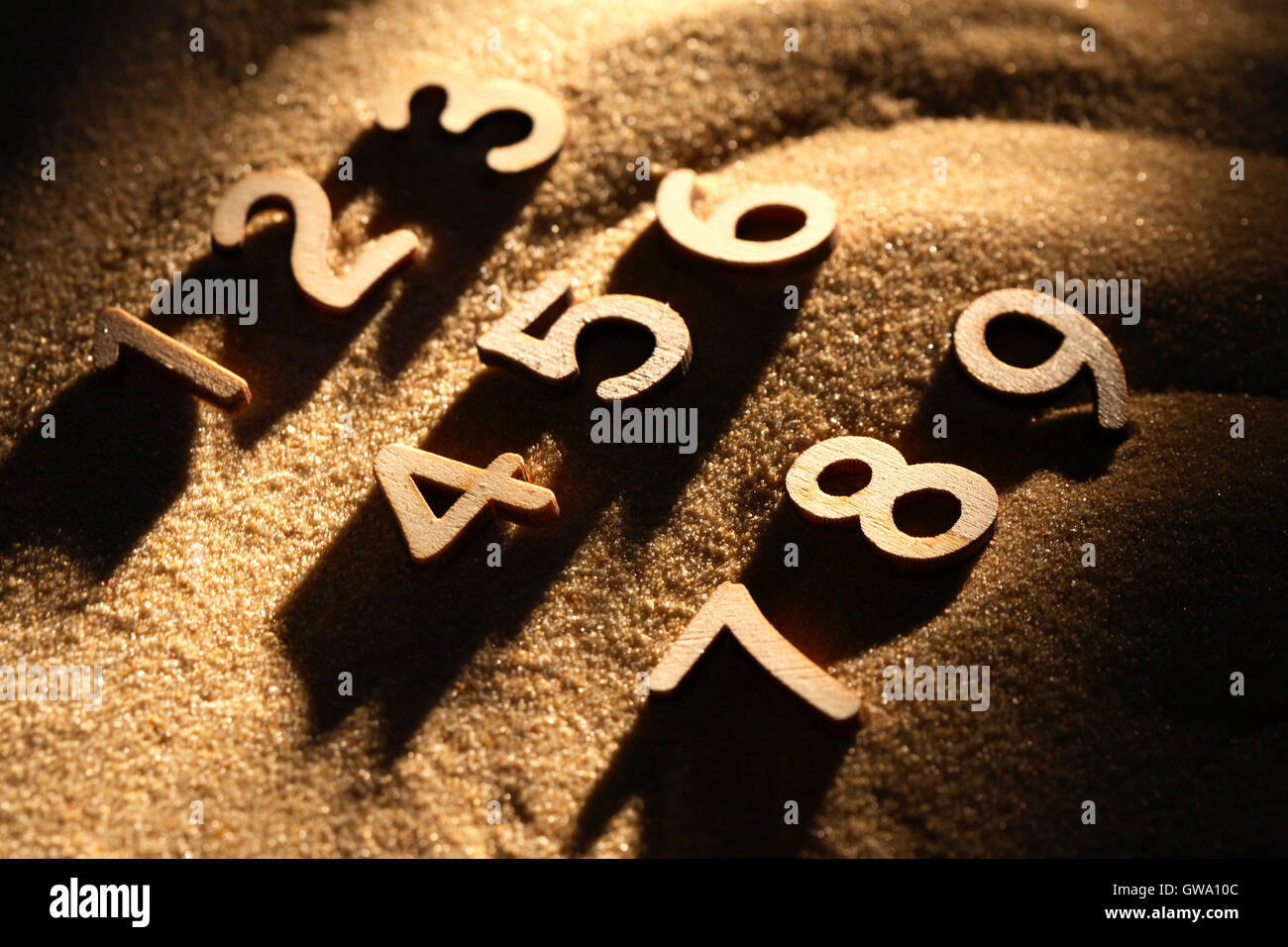 Numbering On Sand - Stock Image