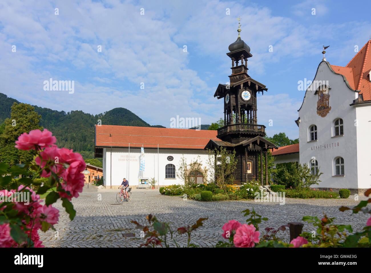 Aschau im Chiemgau: Festhalle (festival hall), Germany, Bayern, Bavaria, Oberbayern, Chiemgau, Upper Bavaria Stock Photo