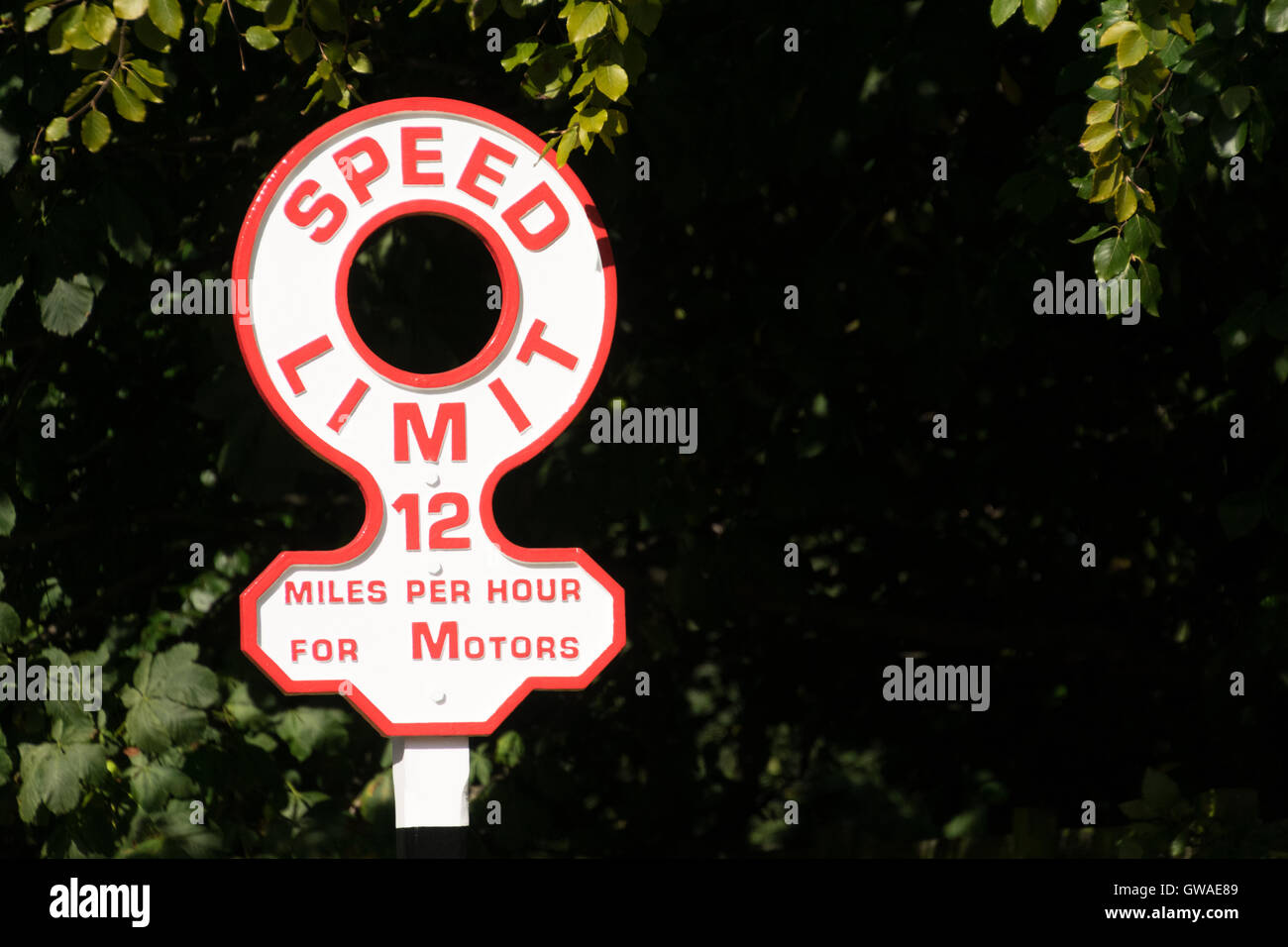 Precise speed sign at Beamish museum - Stock Image