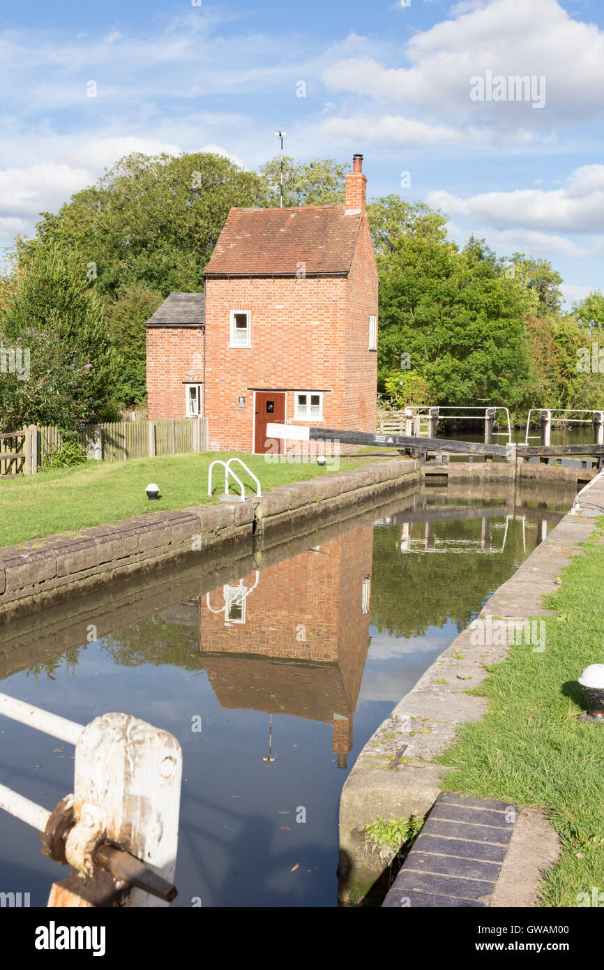 Lock 2 at Braunston on the the Grand Union Canal, Northamptonshire, England, UK - Stock Image