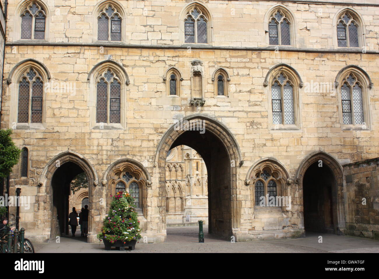 The Exchequer Gate, Lincoln, England Stock Photo
