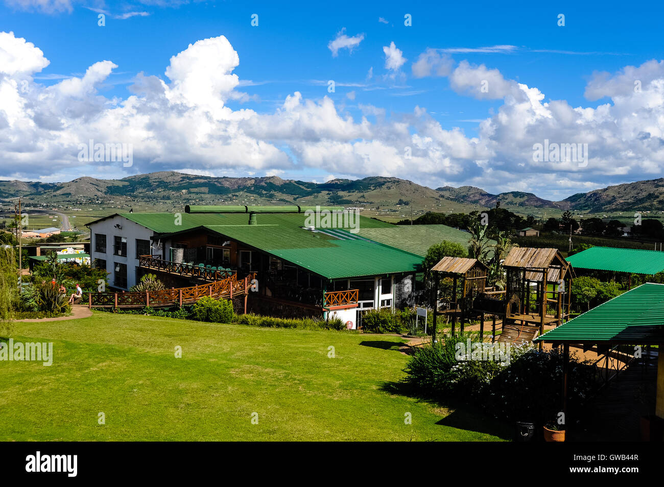 Ngwenya Glass Factory in Ngwenya, Hhohho District. The Kingdom of Swaziland in Southern Africa, bordered by South Stock Photo