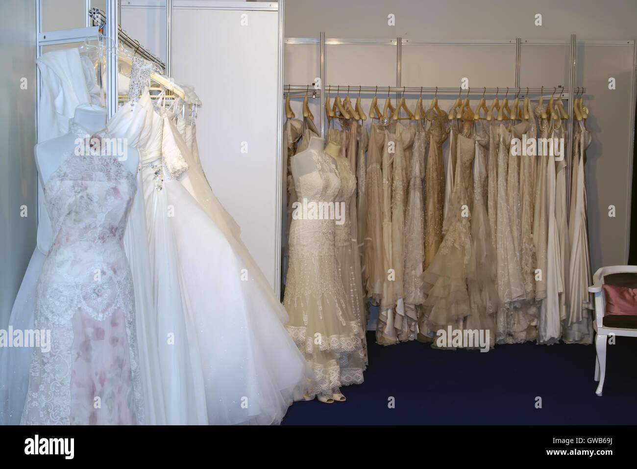 White Wedding Dresses Bunch Of Wedding Dresses Stock Photo Alamy,Wedding Dress Makers Sydney