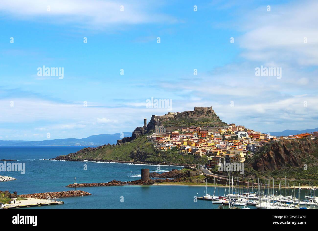 Medieval town of Castelsardo on Sardinia, Italy - Stock Image