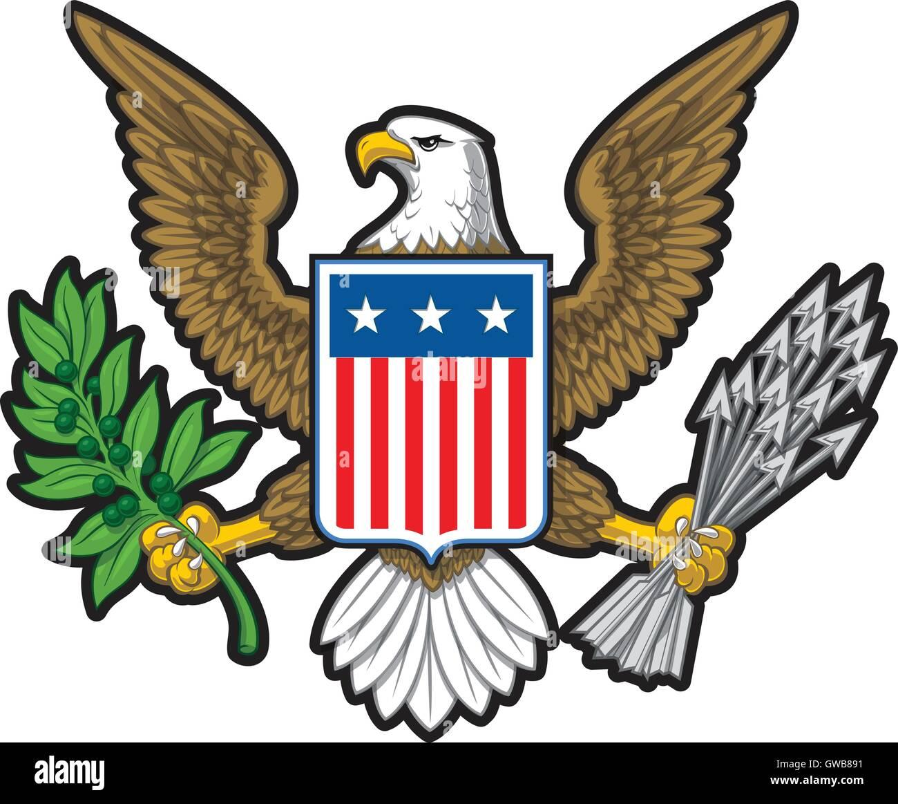 American Eagle Stock Vector Art Illustration Vector Image